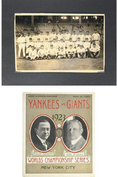 14: 1923 World Series Program & 1923 New York Yankees O