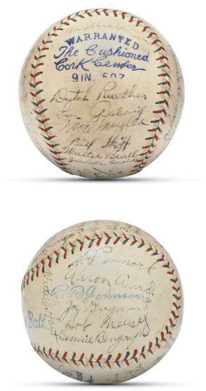17: 1926 New York Yankees Team Signed Baseball