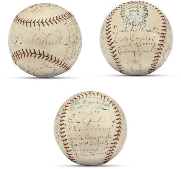 19: 1927 (World Champion) New York Yankees Team Signed