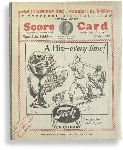 23: 1927 World Series Program at Pittsburgh