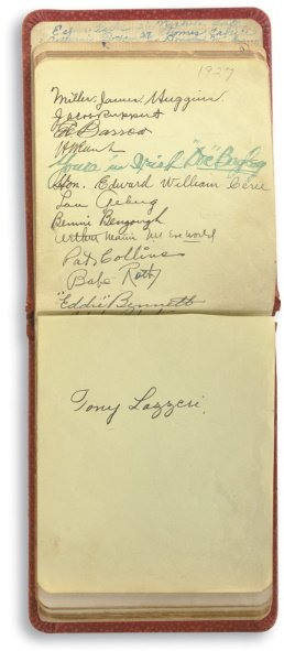 25: Autograph Book Including Signatures of 1927 New Yor