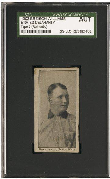 154: 1903-4 Breisch Williams (E107) Type-2 Ed Delahanty
