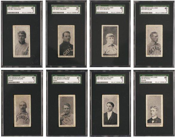 164: 1903-4 Breisch Williams (E107) Type-1 Group of 25