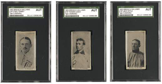 167: 1903-4 Breisch Williams (E107) Type-2 Group of 3 (