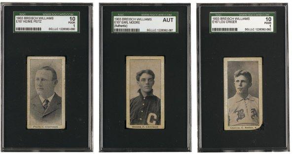 168: 1903-4 Breisch Williams (E107) Type-1 Group of 17