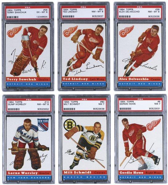 169: High-Grade 1954-55 Topps Hockey PSA Graded Complet
