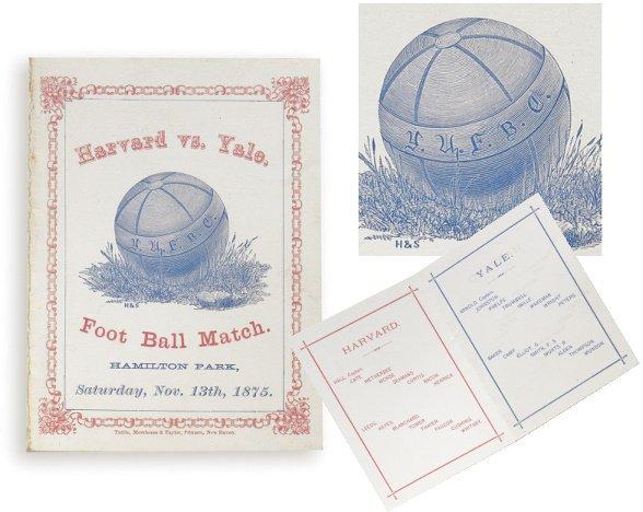 171: First Harvard versus Yale Football Game Program, 1