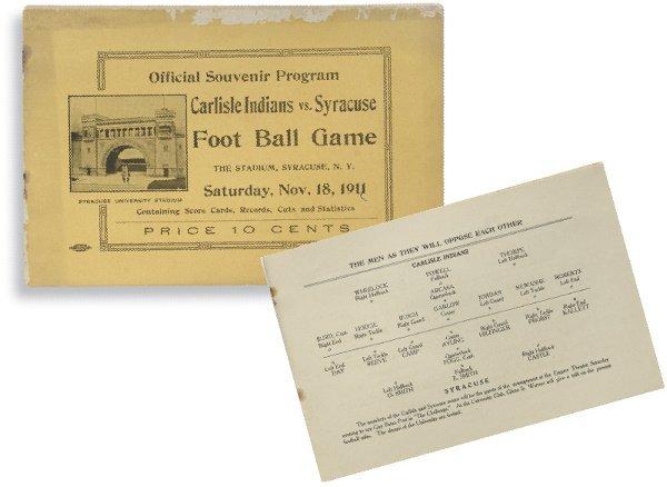172: 1911 Carlisle Indians School vs. Syracuse Universi