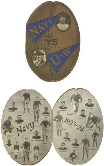 173: 1924 Football Shaped Rose Bowl Program-University
