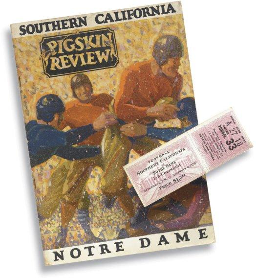 176: First Notre Dame/ USC Football Game Program & Full