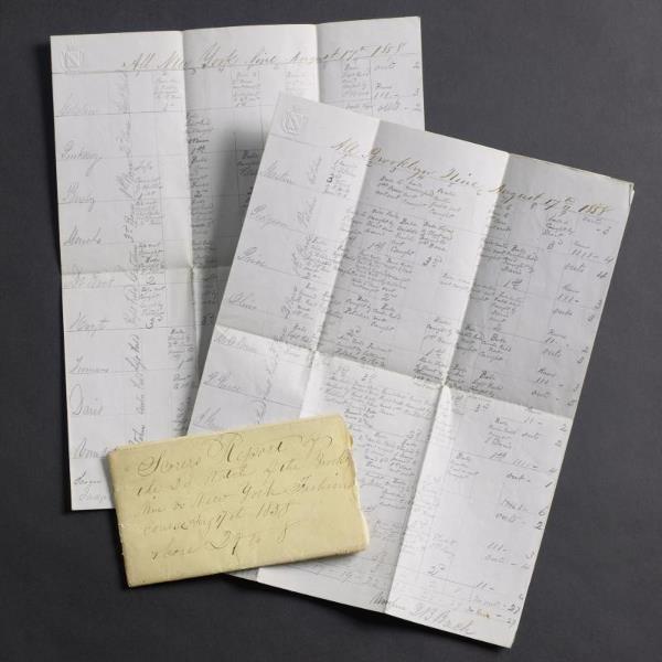 1: 1858 Fashion Race Course Original Official Handwritt