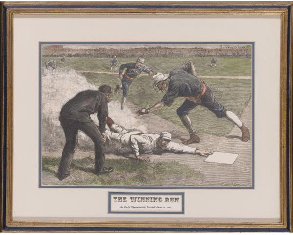 5: Harpers Weekly The Winning Run Print Dated 1885 Feat