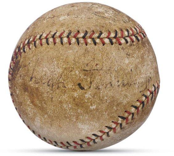 14: 1920 Hugh Jennings Signed Baseball    One of baseba
