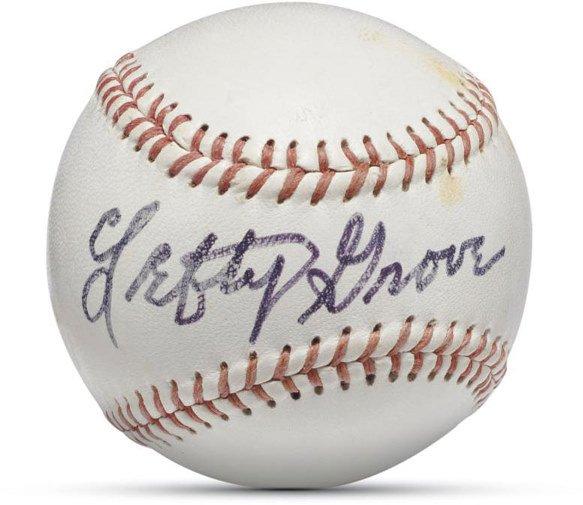 18: Lefty Grove Single Signed Baseball    Robert Moses