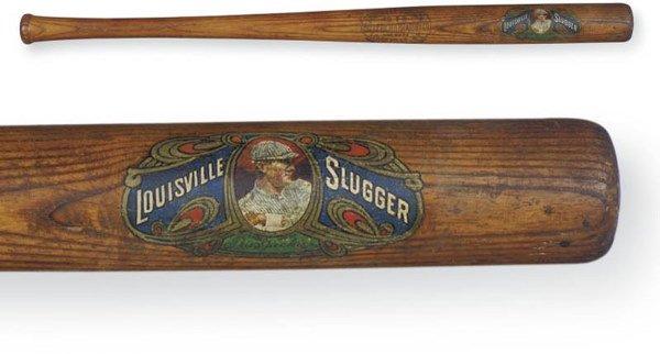 19: Tris Speaker Full Sized Decal Bat, circa 1910    Ha