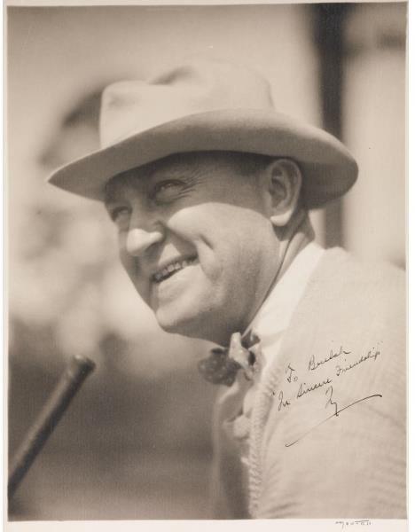 23: Ty Cobb Signed Oversized Portrait Photograph    Thi