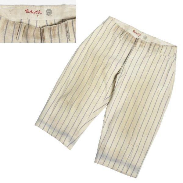 49: Babe Ruth NEW YORK YANKEES HOME Flannel PANTS Circa