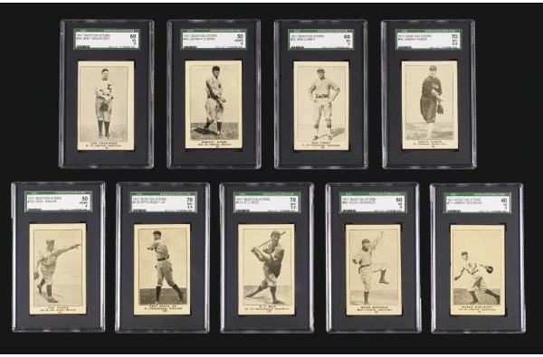 114: 1917 H801-8 Boston Store Lot of 72 Different (incl