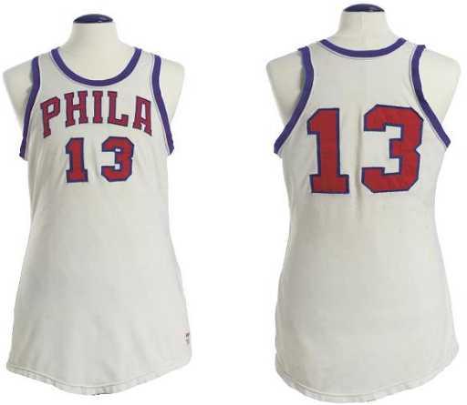 1962ccbd0 126  1968 Game Worn Wilt Chamberlain Philadelphia 76ers