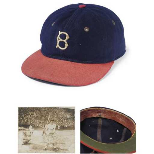 67bd8ee9d16 196A  Babe Ruth s 1935 Boston Braves Cap From Teammate