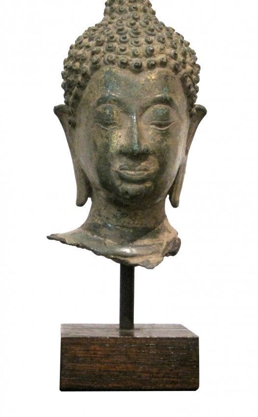 Bronze Buddha Head in 15th Century Ciang Saen Style