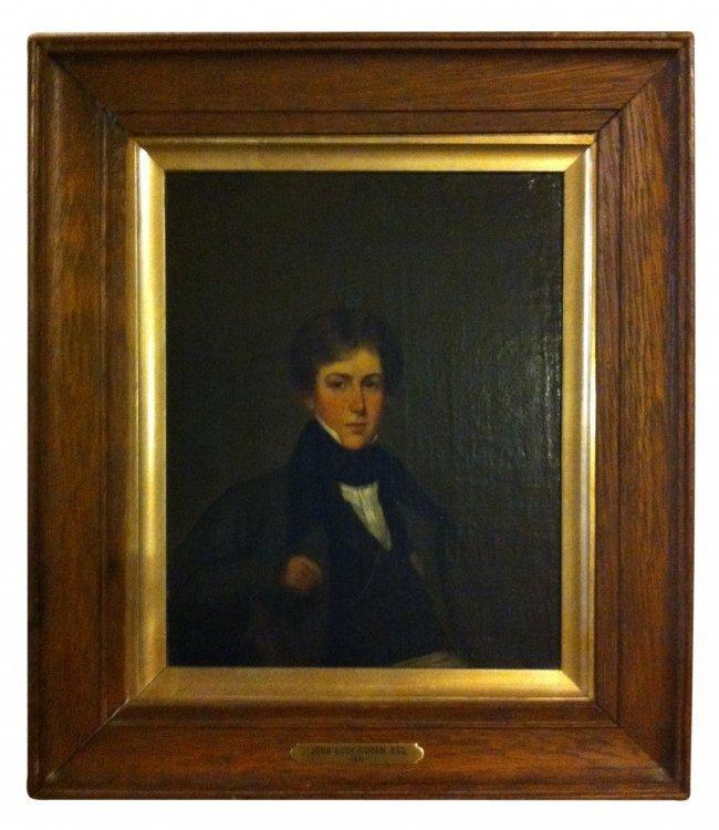 British School, 19th Century, Portrait of a Young Man