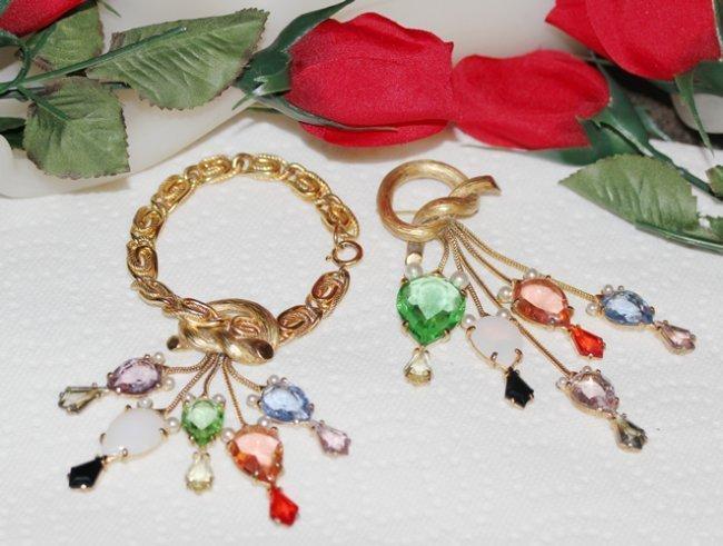 Elsa Schiaparelli Bracelet and Pin Demi Parure