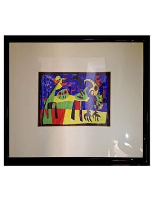 """Joan Miró (1893-1983), """"The Dog Barking at the Moon..."""""""
