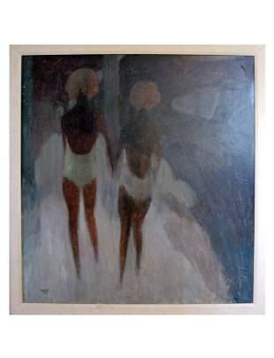 William Lee Cumming (American 1917-2010), Two Women