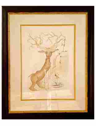 """Salvador Dalí (Spanish, 1904-1989) """"Stag Reflected..."""""""