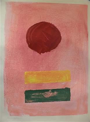 """Adolph Gottlieb (American, 1903-1974), """"Pink Ground"""""""