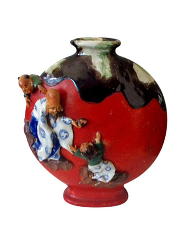 Sumida Gawa Ceramic Vase, Japan
