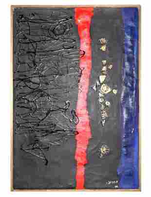 "Shmuel Raayoni ""Haifa"", oil on canvas, circa 1960"