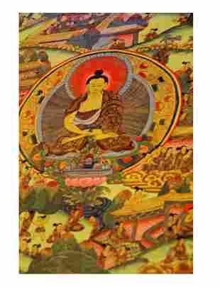 Tibetan Thanka of Shakayamuni Buddha