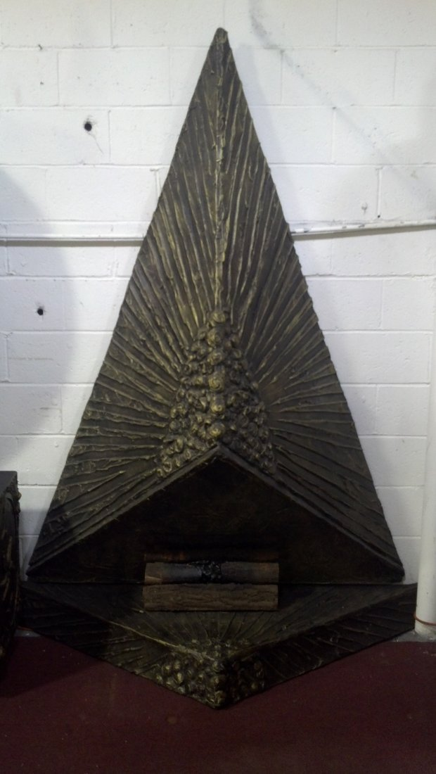 Brutalist Wall-Mounted Fireplace, Adrian Pearsall - 2