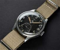 A RARE GENTLEMANS STAINLESS STEEL BRITISH MILITARY IWC