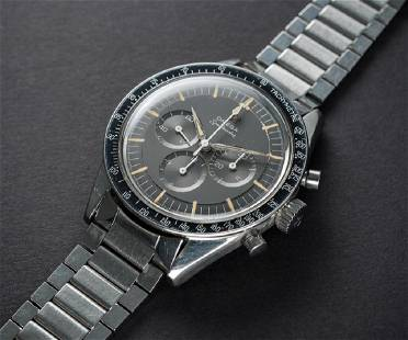 AN EXTREMELY RARE GENTLEMAN'S STAINLESS STEEL OMEGA