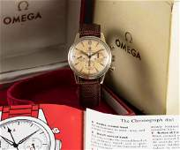 A RARE GENTLEMAN'S 18K SOLID GOLD OMEGA SEAMASTER