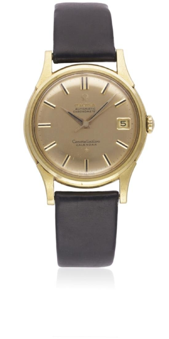A RARE GENTLEMAN'S 18K SOLID GOLD OMEGA CONSTELLATION