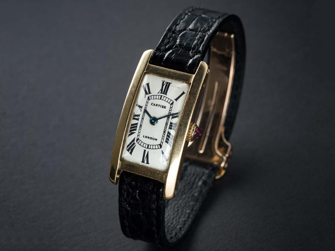 A VERY RARE 18K SOLID GOLD CARTIER LONDON TANK