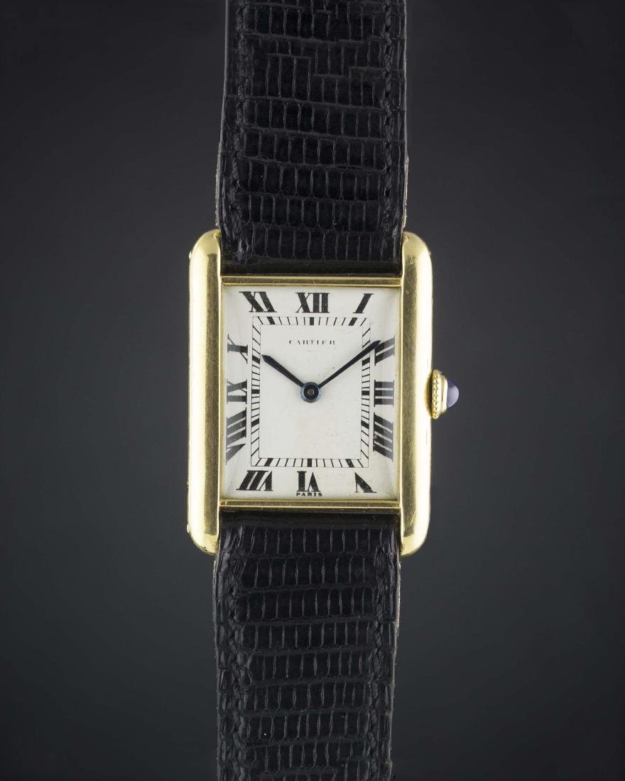 A RARE GENTLEMAN'S 18K SOLID GOLD CARTIER LONDON TANK