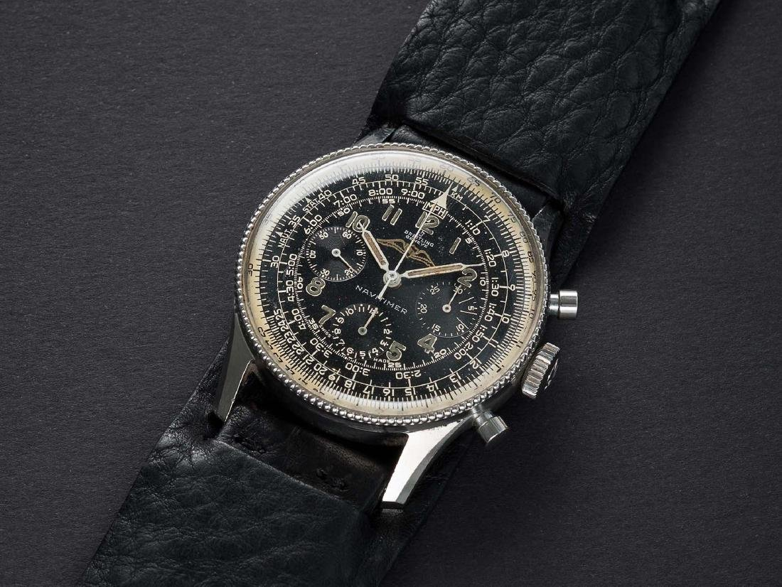 A VERY RARE GENTLEMAN'S STAINLESS STEEL BREITLING AOPA