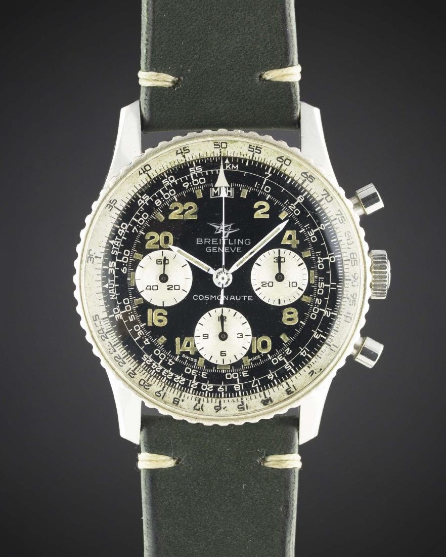 A GENTLEMAN'S STAINLESS STEEL BREITLING 24 HOUR