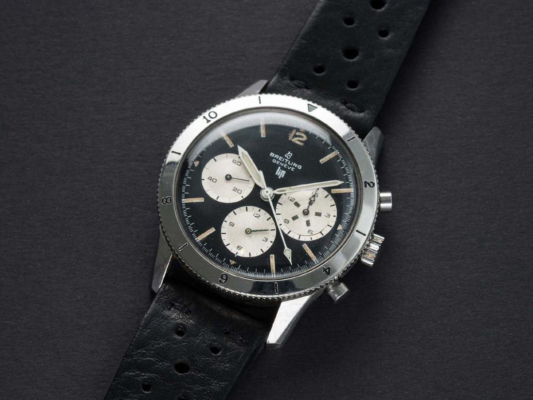 A VERY RARE GENTLEMAN'S STAINLESS STEEL BREITLING LIP