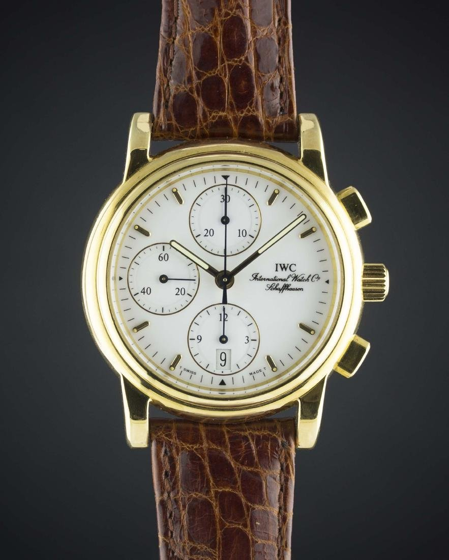"A RARE GENTLEMAN'S 18K SOLID GOLD IWC ""AMALFI"""