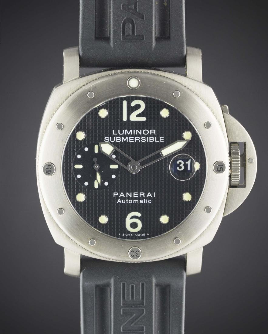 A GENTLEMAN'S TITANIUM PANERAI LUMINOR SUBMERSIBLE