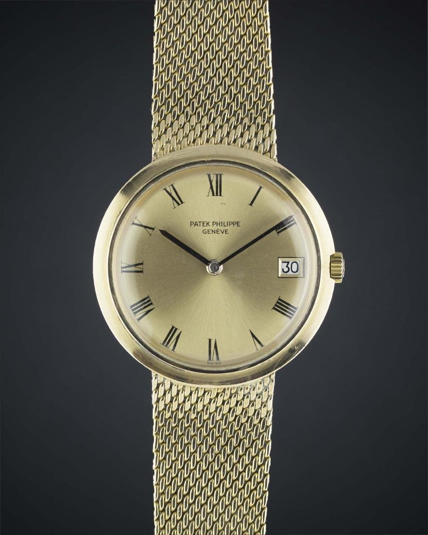 A RARE GENTLEMAN'S 18K SOLID GOLD PATEK PHILIPPE