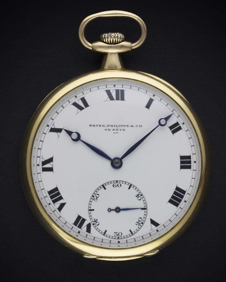AN 18K SOLID GOLD PATEK PHILIPPE POCKET WATCH CIRCA