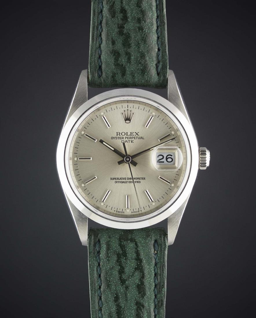 A GENTLEMAN'S STAINLESS STEEL ROLEX OYSTER PERPETUAL