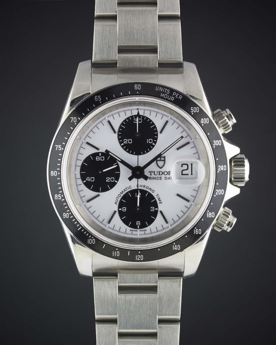 A GENTLEMAN'S STAINLESS STEEL ROLEX TUDOR PRINCE DATE